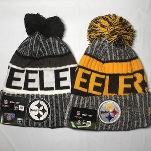 2 Pittsburgh Steelers beanie hats